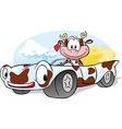 driving cow vector image