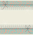 horizontal lace frame with cute hearts vector image