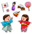 japanese collection vector image