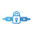lock password protected chain digital concept vector image