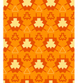 orange yellow color abstract geometric seamless vector image
