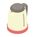 Plastic electric kettle icon cartoon style vector image