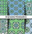 Set of 6 seamless Oriental patterns vector image