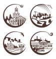 set of graphic city vector image