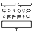 Simple gray map markers set vector image