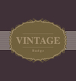 Vintage retro badge and label design template vector image