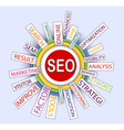 Words in a word cloud to SEO vector image