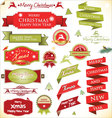 Christmas vintage labels set vector image