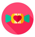 Lovely candy circle icon vector image