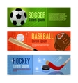 Sport Banner Set vector image vector image