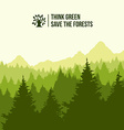 Tree landscape think green concept vector image