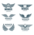 wings logo set vector image