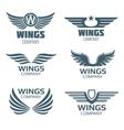 Wings logo set vector image