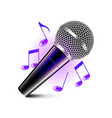 Karaoke icon isolated on white vector image vector image