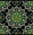 Aboriginal dot painting seamless pattern bohemian vector image