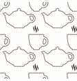 Abstract kitchen seamless pattern vector image