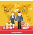 Balance Between Business Work and Family Life vector image