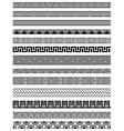 Border decoration elements set vector image