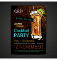 Disco cocktail party poster vector image