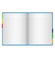 paper notebook vector image