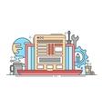 Programming Tools - line flat design website vector image