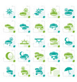 stylized weather and nature icons vector image