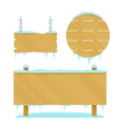 Winter Wooden Boards vector image