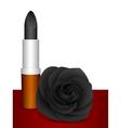 Black lipstick black rose vector image vector image