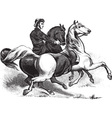 Man riding horses vector image vector image