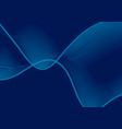 dark blue abstract wavy lines background vector image
