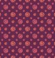 Polka dot fabric seamless pattern dark background vector image