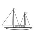 Sailing ship icon vector image vector image