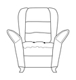 armchair part of interior vector image vector image
