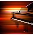 abstract red blur music background with grand vector image