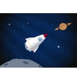Toy rocket background vector image