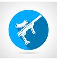 Blue flat icon for paintball marker vector image