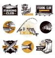 Fishing Logo Emblems vector image