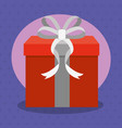 gift with bow design vector image