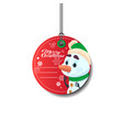 merry christmas tag holiday sale sticker with vector image