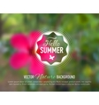 Nature flower blurred background with design text vector image