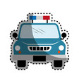 police patrol isolated icon vector image