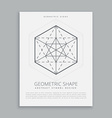 sacred geometrical symbol vector image