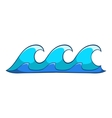 Small waves icon cartoon style vector image