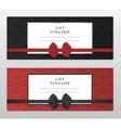 modern gift voucher template set with vector image