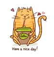 cute cat coffee break 2 vector image