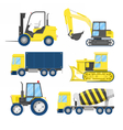 Industrial Construction Transportation with Truck vector image