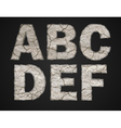 Stone letters set vector image