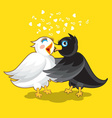 Small Cute Evening Bird vector image