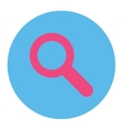 Search flat pink and blue colors round button vector image