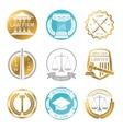 Law office logo set vector image vector image